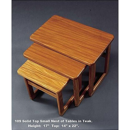 Anbercraft - Teak Nest of Tables