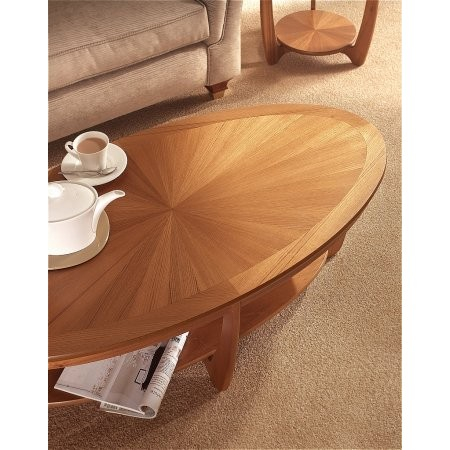 Nathan - Shades Sunburst Top Oval Coffee Table