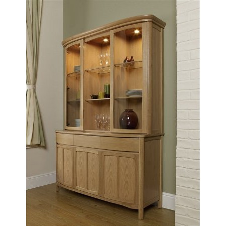 Nathan - Shades Oak Glazed Display Unit