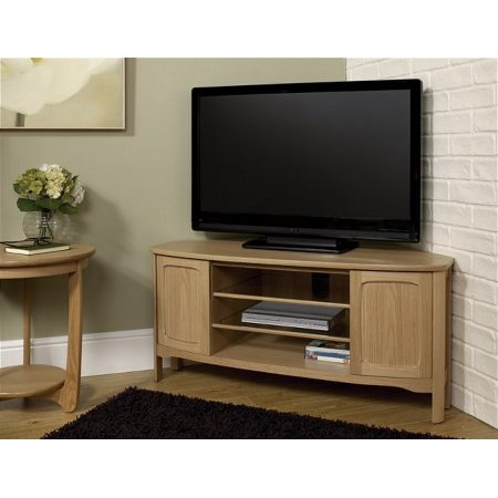 Nathan - Shades Oak Shaped Corner TV Unit
