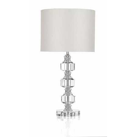 Dar Lighting - Acton 3 Piece Crystal Table Lamp complete with Shade