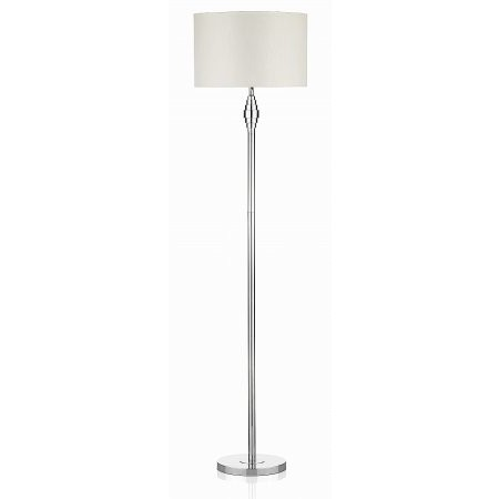 Dar Lighting - Adonis Metal Dumbell Floor Lamp complete with Shade