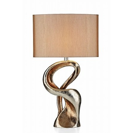 Dar Lighting - Alchemy Table Lamp Gold Resin complete with Shade