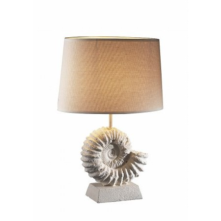 Dar Lighting - Ammonite Table Lamp Stone Effect complete with Shade S190