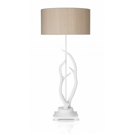 Dar Lighting - Antler Table Lamp complete with S051 Natural Shade