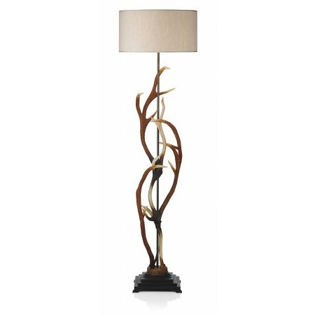Dar Lighting - Antler Floor Lamp complete with S704 Natural Shade