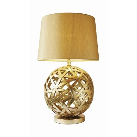 Dar Lighting - Balthazar Table Lamp complete with Shade Bronze