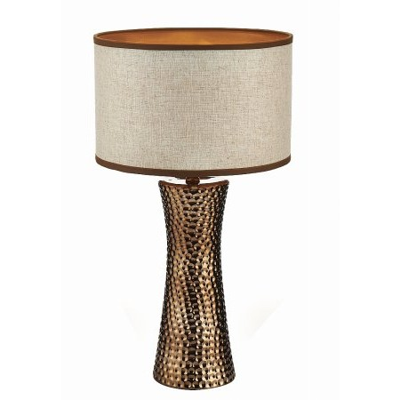 Dar Lighting - Bokara Table Lamp Bronze complete with Shade