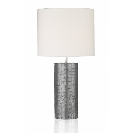 Dar Lighting - Caiman Cylinder Table Lamp Pewter Base Only