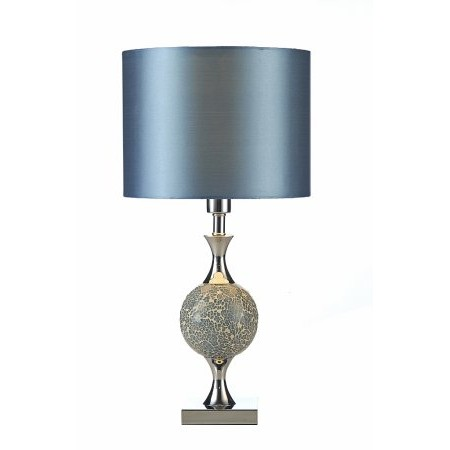 Dar Lighting - Elsa Table Lamp Blue Mosaic complete with Shade