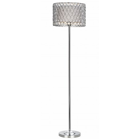 Dar Lighting - Fifi Polished Chrome Floor Lamp