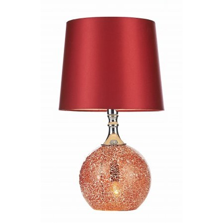 Dar Lighting - Lovell Table Lamp Red Mosaic complete with Shade