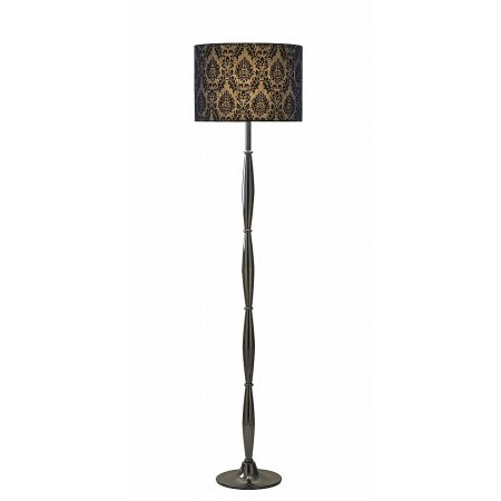 Dar Lighting - Preston Floor Lamp Black Chrome