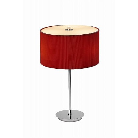 Dar Lighting - Zaragoza Table Lamp Red complete with ZAR1425