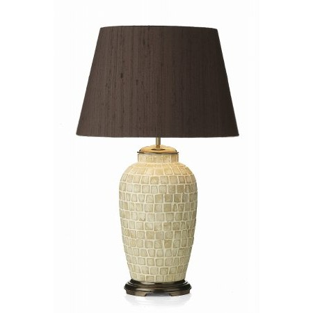 Dar Lighting - Zuccaro Medium Silk Empire Drum Shade Nutmeg