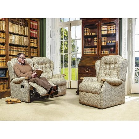 Sherborne - Lynton Knuckle Standard Reclining Settee and Fixed Chair