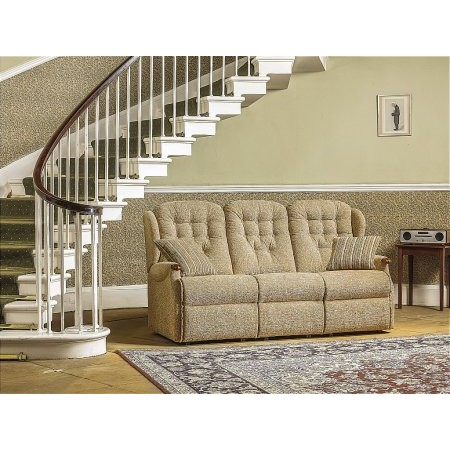 Sherborne - Lynton Knuckle Small Fixed 3 Seater Settee