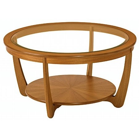 Nathan - Shades Round Glass Top Coffee Table
