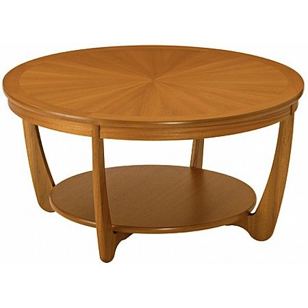 Nathan - Shades Range Sunburst Round Coffee Table