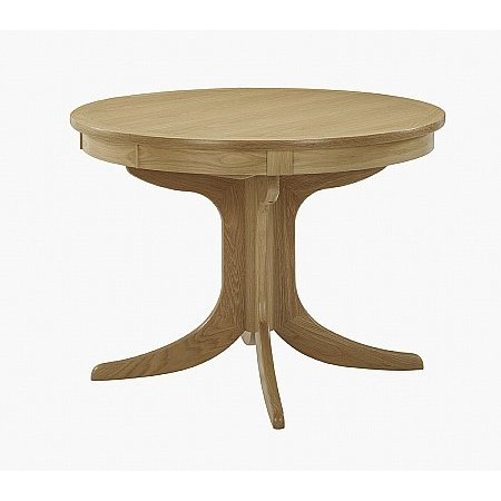 Nathan - Shades Oak Circular Sunburst Pedestal Dining Table