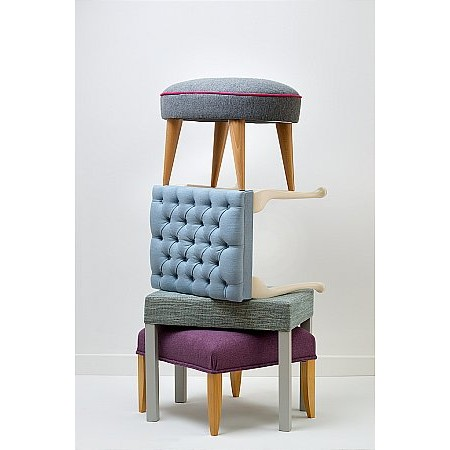 Stuart Jones - Stools Lily Queen Anne Oakley