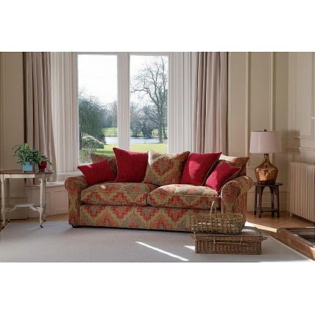 Parker Knoll - Newark Grand Pillow Back Sofa in Peru Ruby
