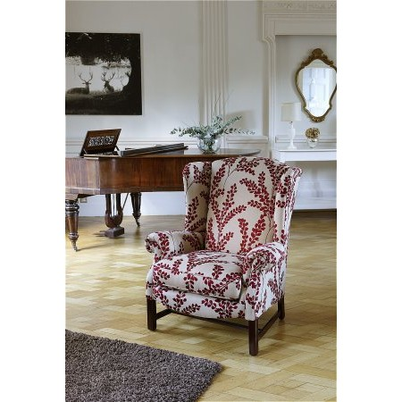 Parker Knoll - Sinatra Wing Chair in Clovelly Claret