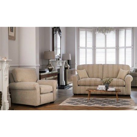 Parker Knoll - Newark 2 Seater Sofa and Chair in Caramel