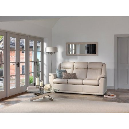 G Plan Upholstery - Milton 3 Seater Leather Sofa