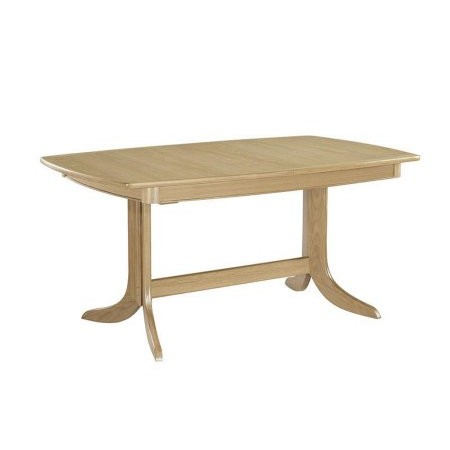 Nathan - Shades Oak Extending Boat Shaped Pedestal Dining Table