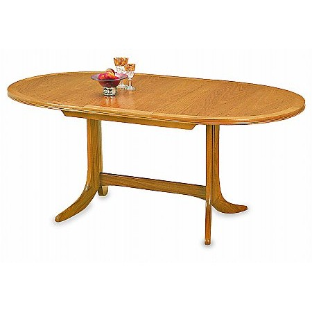 Nathan - Classic Oval Pedestal Table