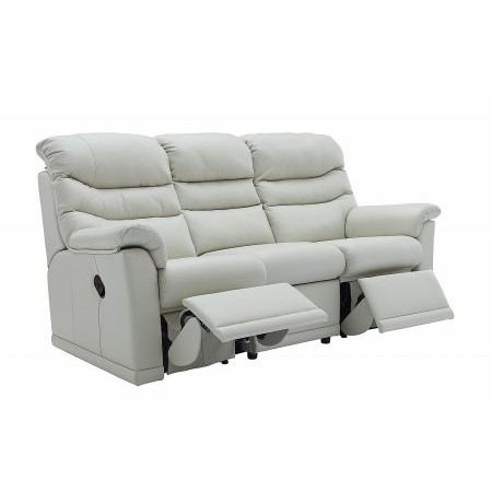 G Plan Upholstery - Malvern 3 Seater Leather Recliner Sofa