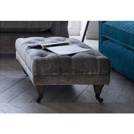 Westbridge Furniture - Classic Buttoned Footstool