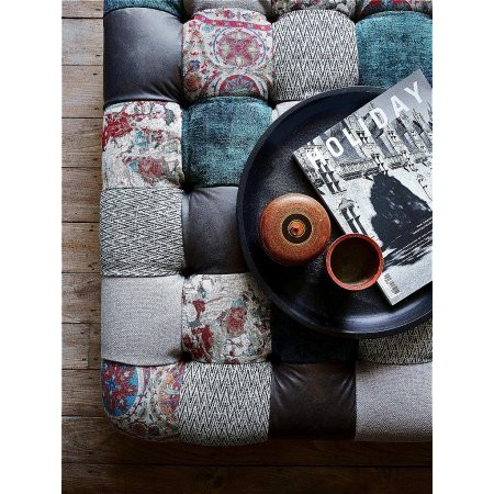 Westbridge Furniture - Classic Patchwork Footstool