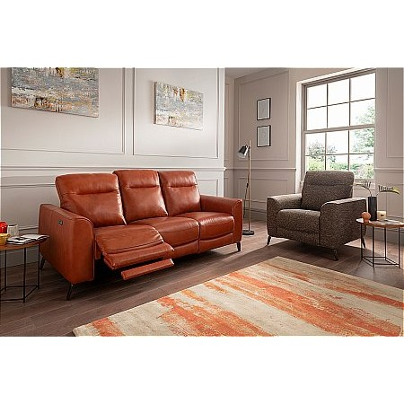 Lazboy - Connor Leather Recliner Sofa