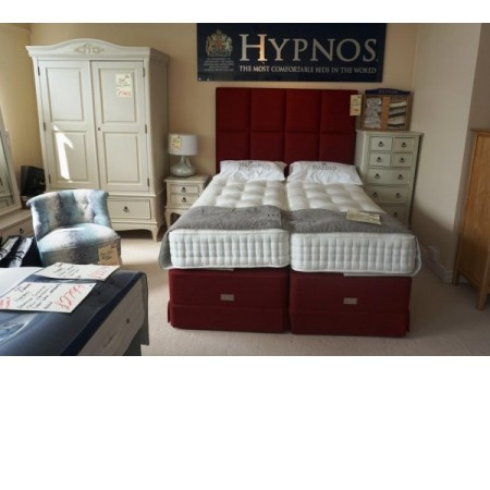 "Hypnos - Clarence Supreme 5'0"" Zip and Link Luxury Set with Headboard"