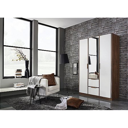 Rauch - Essensa 2 Drawer 3 Door Hinged Wardrobe
