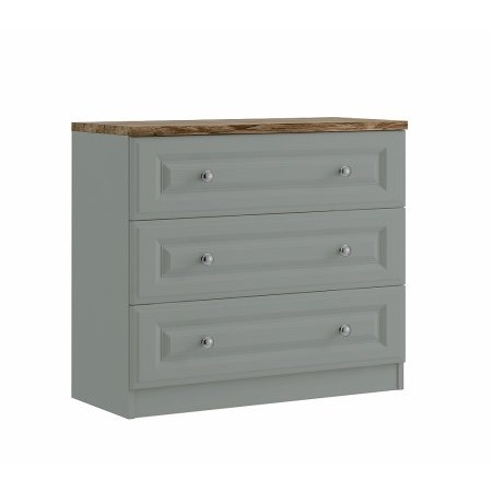 Maysons - Naples 3 Drawer Chest Oak Top