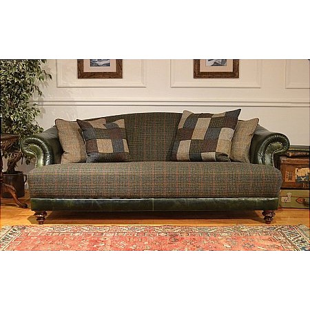 Tetrad - Harris Tweed Taransay Leather Sofa