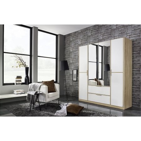 Rauch - Essensa 2 Drawer 4 Door Hinged Wardrobe