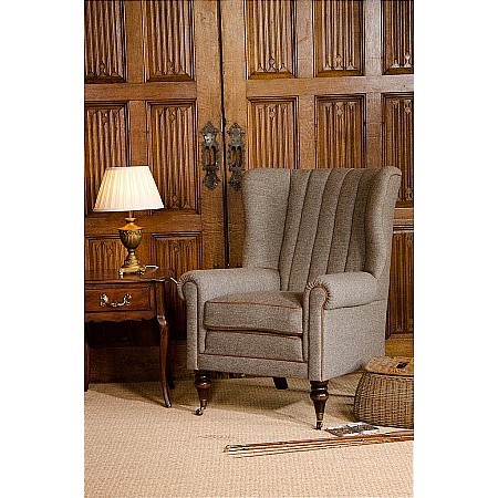 Harris Tweed - Dunmore Wing Chair