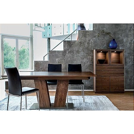 Skovby - 39 Dining Table  plus 58 Chair  plus 923 Display Cabinet