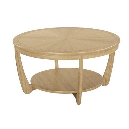Nathan - Shades Oak Sunburst Top Round Coffee Table