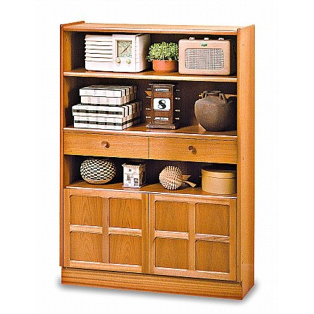 Nathan - Classic Medium Bookcase with Doors