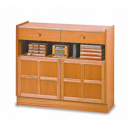 Nathan - Classic Low Bookcase with Doors