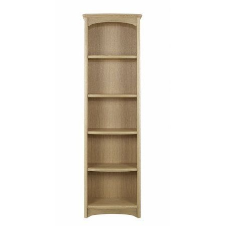 Nathan - Shades Oak Tall Single Bookcase