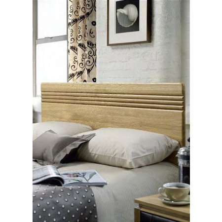 Stuart Jones - Flute Natural Oak Headboard
