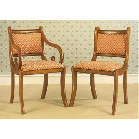 Gola - Cherry Regency Upolstered Back Chairs