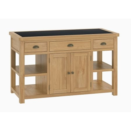 Classic Furniture - Portland Kitchen Large Island Unit Oak