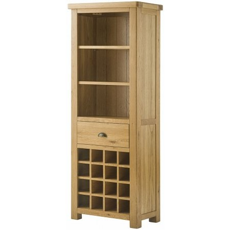 Classic Furniture - Portland Grand Bookcase with Wine Holders Oak